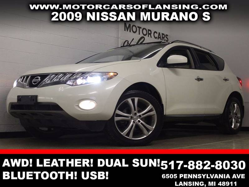 2009 NISSAN MURANO S white awd leather dual sunroof bluetooth usb  3 month 4000 mile limi