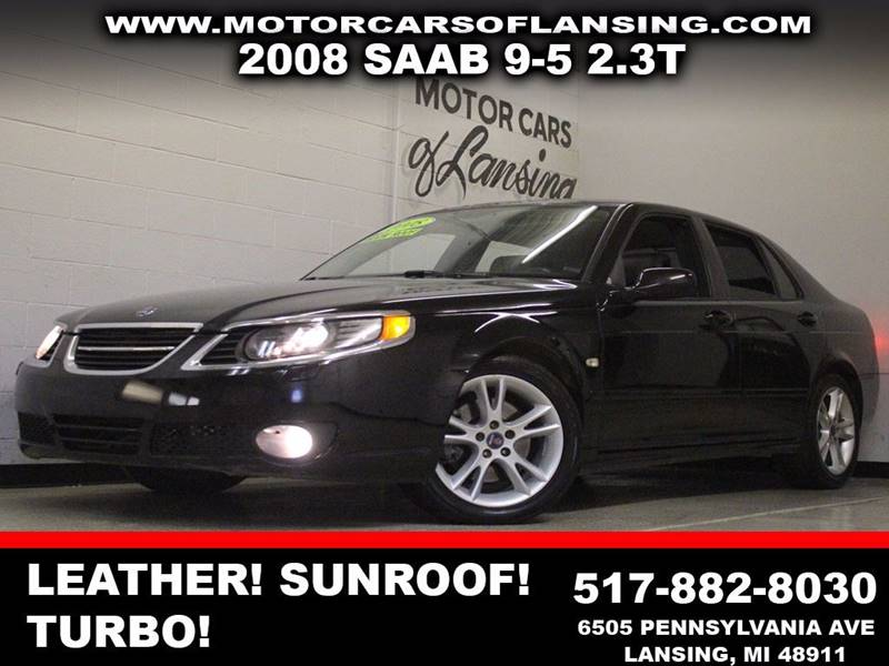 2008 SAAB 9-5 23T 4DR SEDAN black leather sunroof auxiliary dual zone ac eco-tech  3 mon