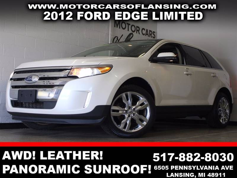 2012 FORD EDGE LIMITED white awd leather panoramic sunroof dual zone ac backup camera  3