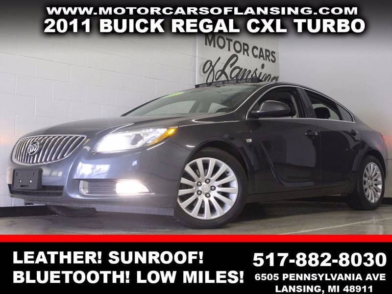 2011 BUICK REGAL CXL TURBO gray leather sunroof auxiliary bluetooth dual zone ac low miles