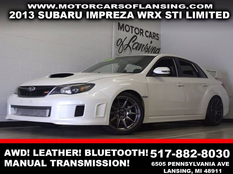 2013 SUBARU IMPREZA WRX STI LIMITED AWD 4DR SEDAN white awd leather manual transmission auxili