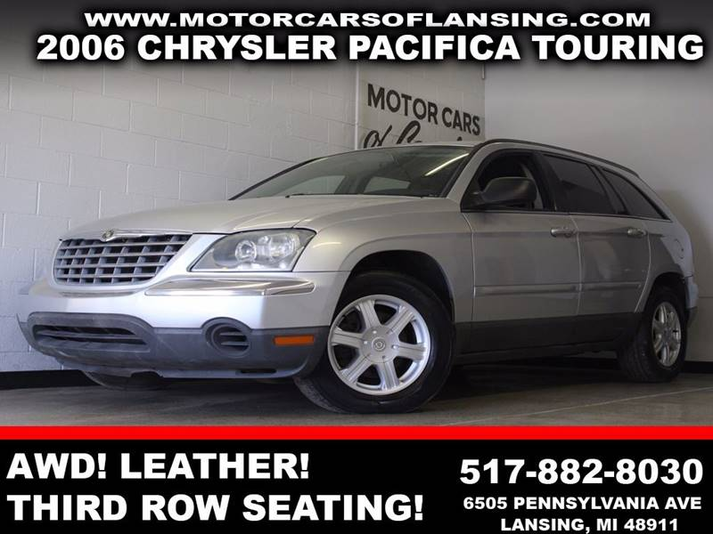 2006 CHRYSLER PACIFICA TOURING silver awd leather third row seating auxiliary dual zone ac
