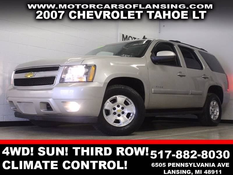 2007 CHEVROLET TAHOE LT tan 4wd sunroof third row seating auxiliary dual zone ac  3 month