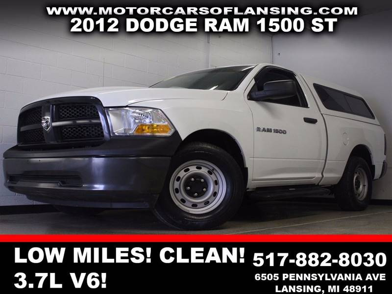 2012 RAM RAM PICKUP 1500 ST white clean low miles auxiliary  3 month 4000 mile limited powe