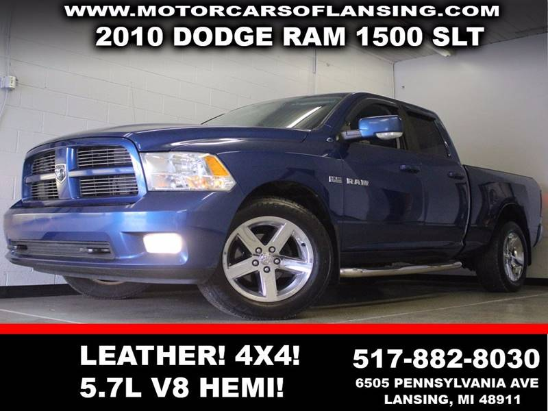 2010 DODGE RAM PICKUP 1500 SLT blue 4x4 leather auxiliary 57l v8 hemi  3 month 4000 mile