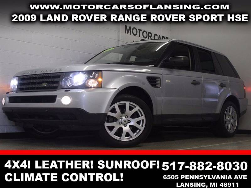 2009 LAND ROVER RANGE ROVER SPORT HSE silver 4x4 leather sunroof auxiliary dual zone ac