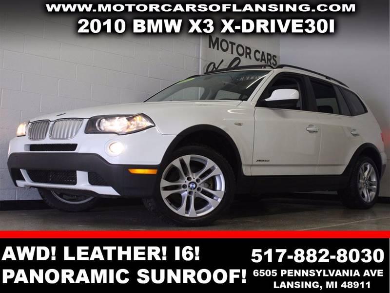 2010 BMW X3 XDRIVE30I white awd x-drive30i leather panoramic sunroof bluetooth  3 month 4