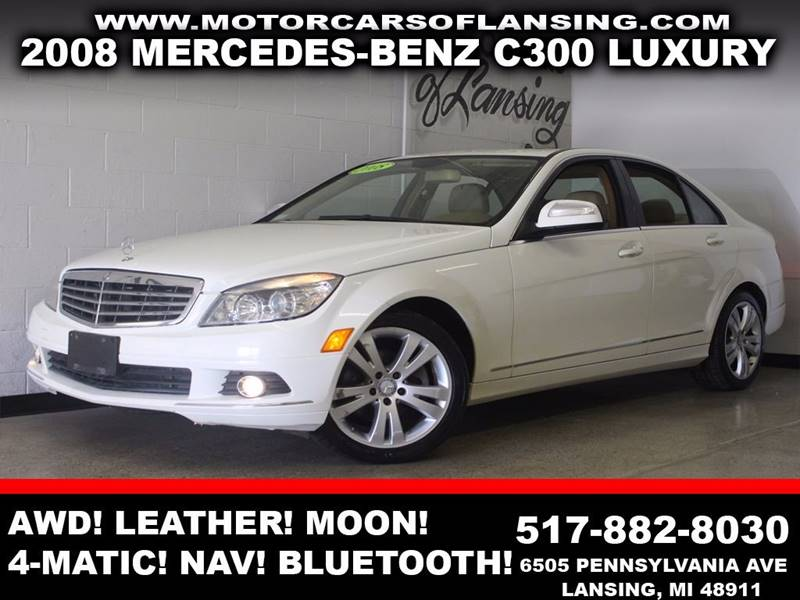 2008 MERCEDES-BENZ C-CLASS C300 LUXURY 4MATIC AWD 4DR SEDAN white awd leather sunroof 4-matic