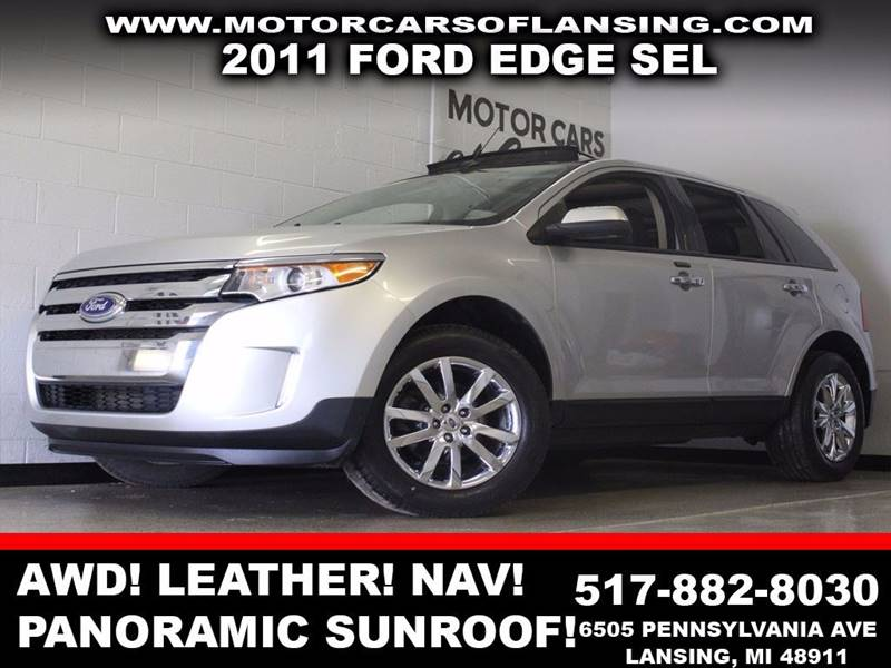 2011 FORD EDGE SEL AWD 4DR SUV silver awd leather panoramic sunroof navigation bluetooth usb
