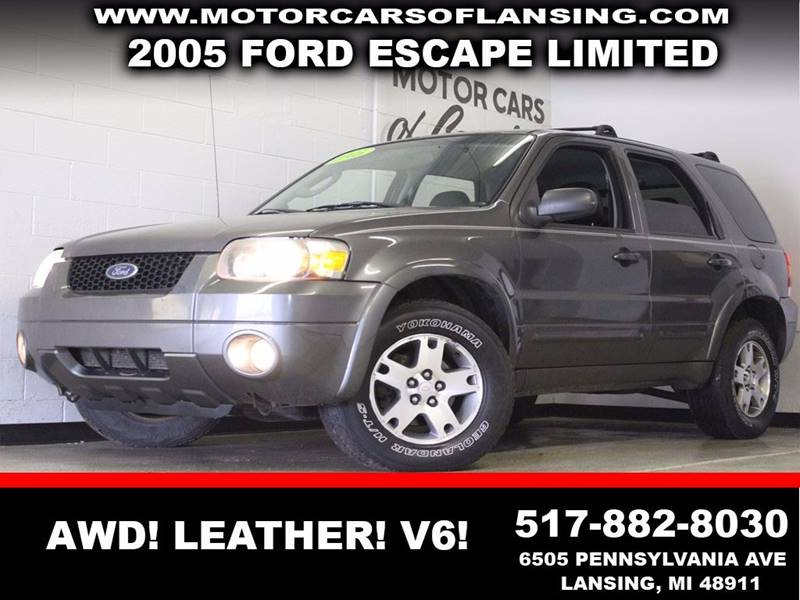 2005 FORD ESCAPE LIMITED gray awd leather v6  3 month 4000 mile limited powertrain warranty