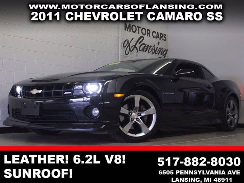 2011 CHEVROLET CAMARO SS 2DR COUPE W2SS black leather 62l v8 auxiliary u
