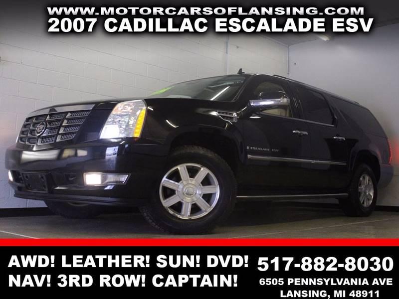 2007 CADILLAC ESCALADE ESV BASE AWD 4DR SUV black awd leather third row seating captain chairs
