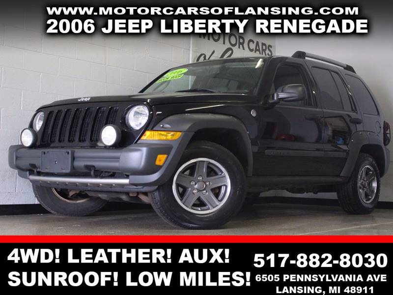 2006 JEEP LIBERTY RENEGADE 4DR SUV 4WD black 4x4 leather sunroof auxiliary  3 month 4000 m
