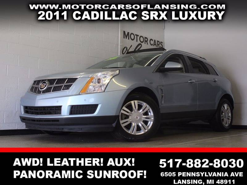 2011 CADILLAC SRX LUXURY COLLECTION AWD 4DR SUV light blue awd panoramic sunroof leather auxil
