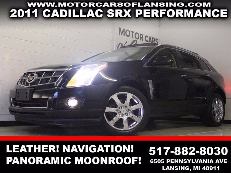 2011 CADILLAC SRX PERFORMANCE COLLECTION 4DR SUV black awd leather panoramic sunroof navigatio