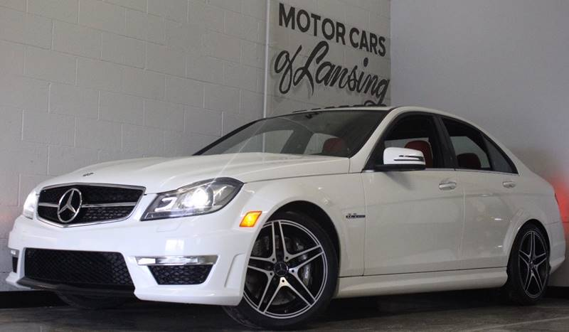 2013 MERCEDES-BENZ C-CLASS C63 AMG 4DR SEDAN white very nice clean c63 amg 18775 actual miles