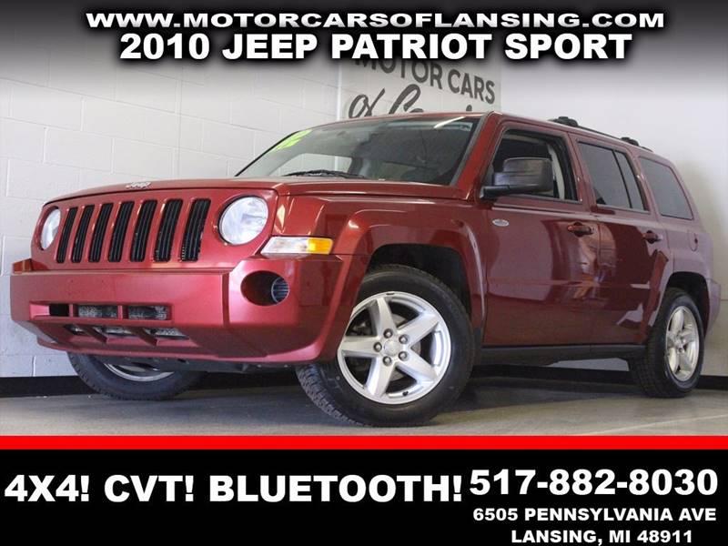 2010 JEEP PATRIOT SPORT 4X4 4DR SUV burgundy 4x4 usb aux clean  3 month 4000 mile limited
