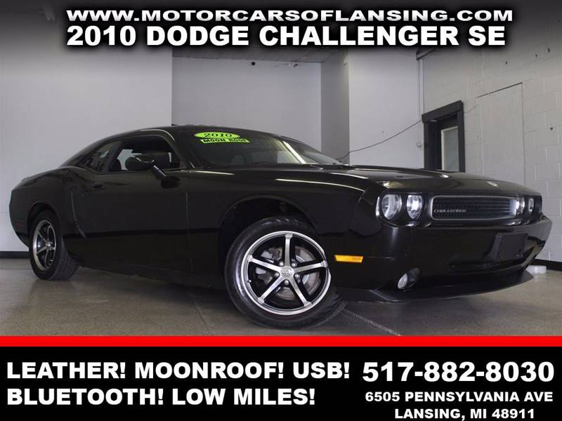 2010 DODGE CHALLENGER SE 2DR COUPE black leather moonroof low miles bluetooth auxiliary usb