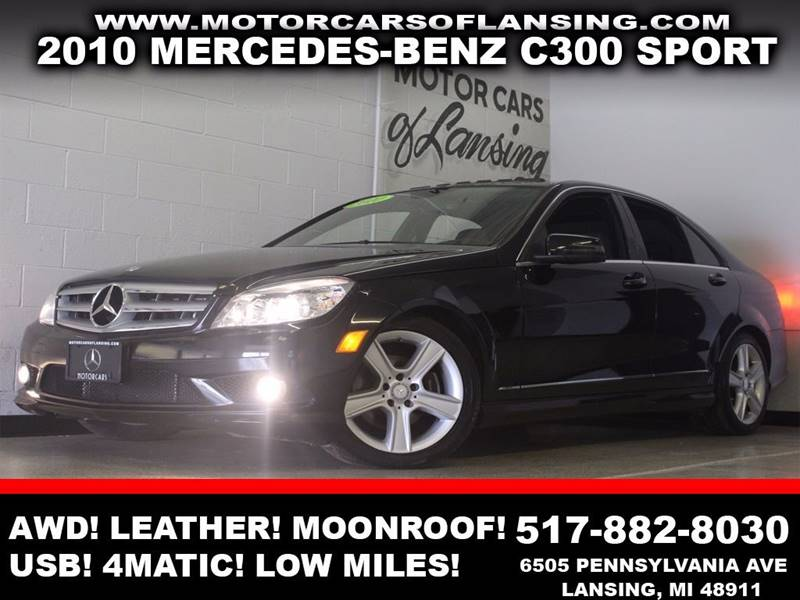 2010 MERCEDES-BENZ C-CLASS C300 SPORT 4MATIC AWD 4DR SEDAN black awd leather moonroof bluetoot