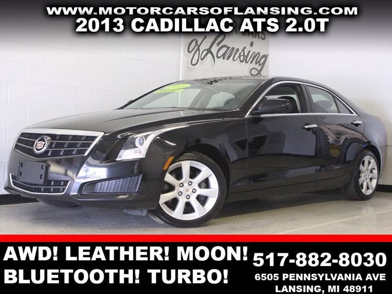 2013 CADILLAC ATS 20T AWD 4DR SEDAN black awd leather moonroof bluetooth usb low miles tur