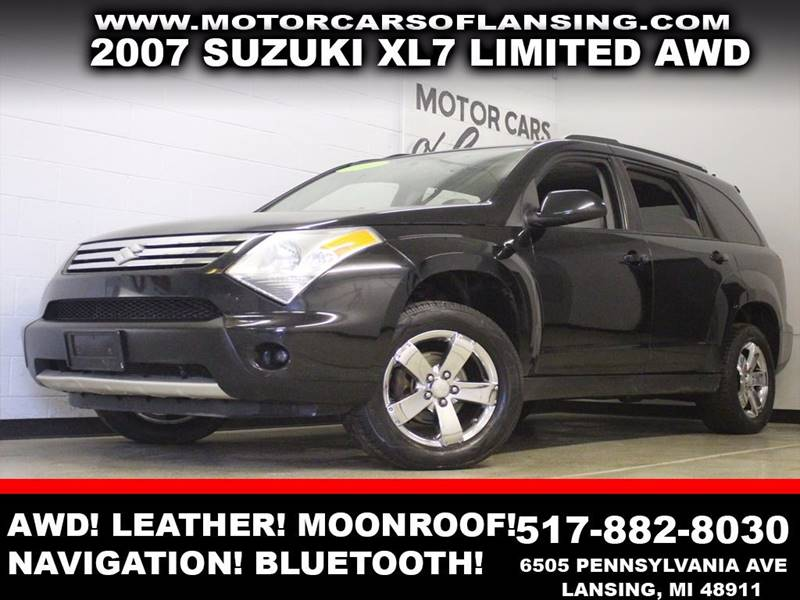2007 SUZUKI XL7 LIMITED AWD 4DR SUV WPLATINUM T black leather awd navigation auxiliary sunro