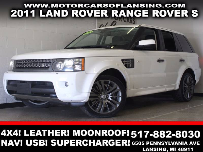 2011 LAND ROVER RANGE ROVER SPORT SUPERCHARGED 4X4 4DR SUV white 4x4 leather moonroof navigatio
