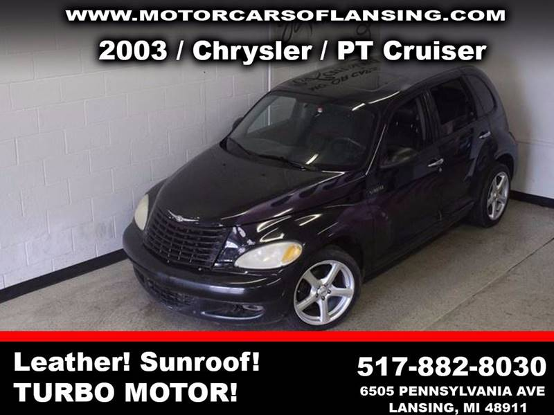 2003 CHRYSLER PT CRUISER GT 4DR TURBO WAGON black turbo leather moonroof auxiliary clean  3