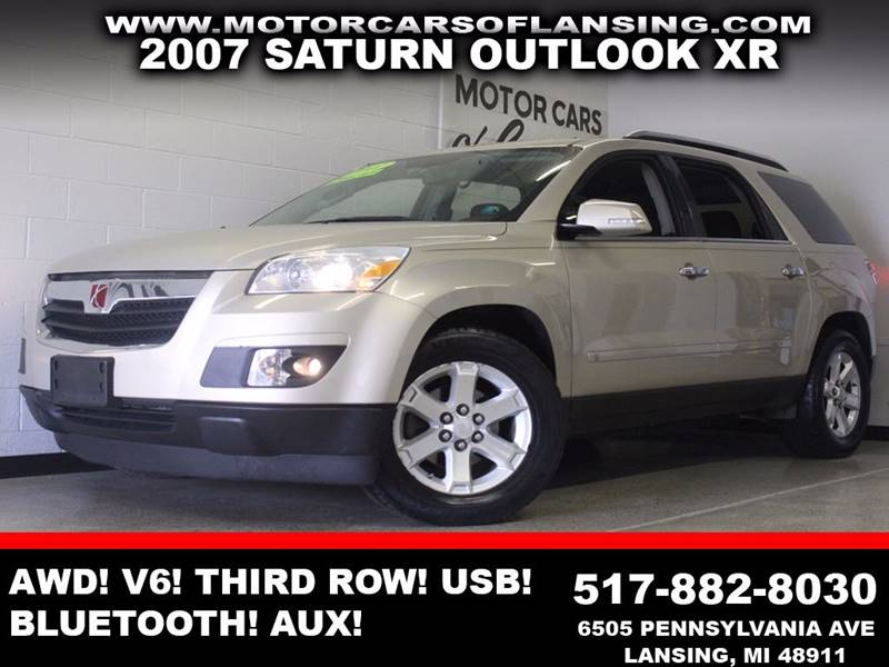 2007 SATURN OUTLOOK XR AWD 4DR SUV tan awd v6 third row seating usb aux bluetooth  3 mont