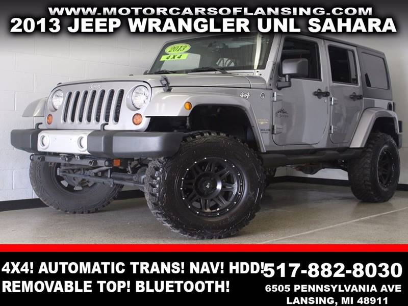 2013 JEEP WRANGLER UNLIMITED SAHARA 4X4 4DR SUV gray 4x4 v6 automatic tranmission navigation