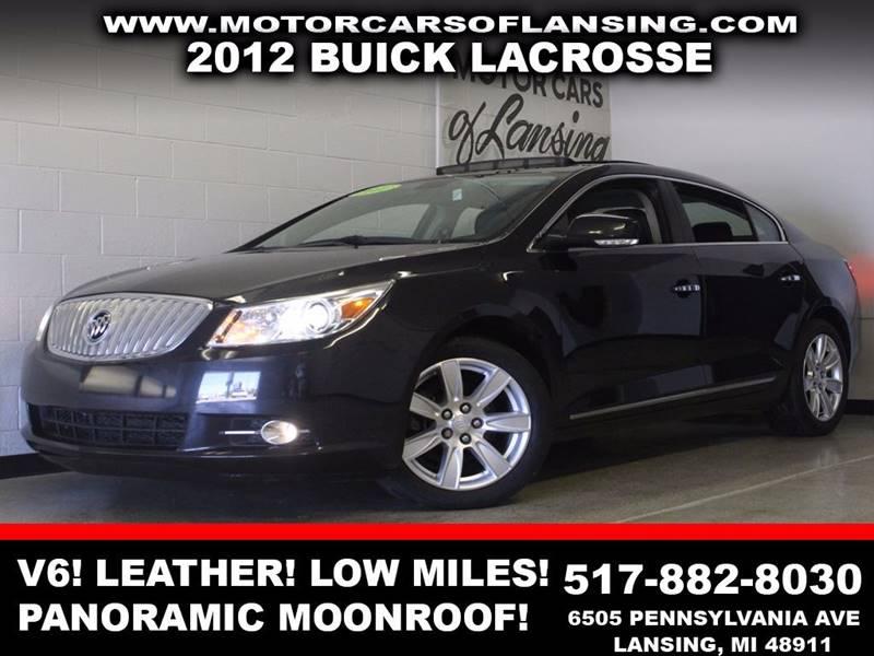2012 BUICK LACROSSE TOURING 4DR SEDAN black v6 leather panoramic moonroof low miles  bluetoot