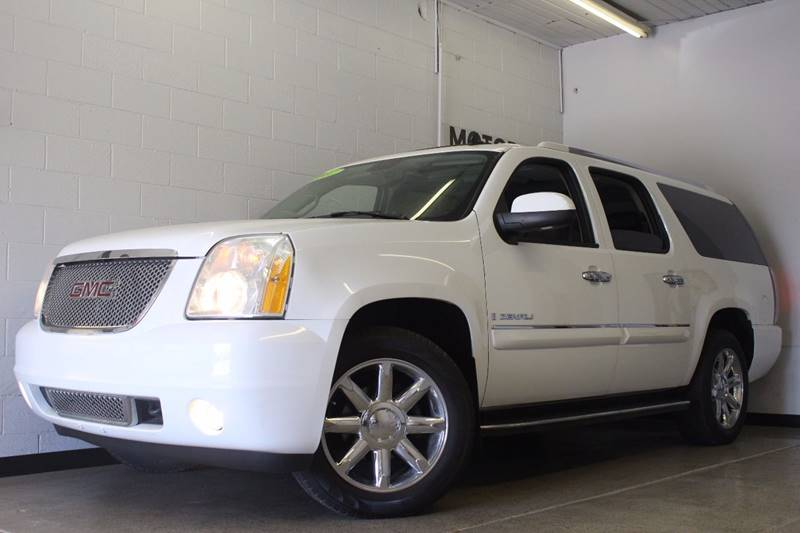 2007 GMC YUKON XL DENALI AWD 4DR SUV white running boards - step tow hooks - front trailer hitc