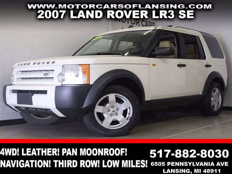 2007 LAND ROVER LR3 V6 SE 4DR SUV 4WD white 4wd leather panoramic moonroof navigation aux us
