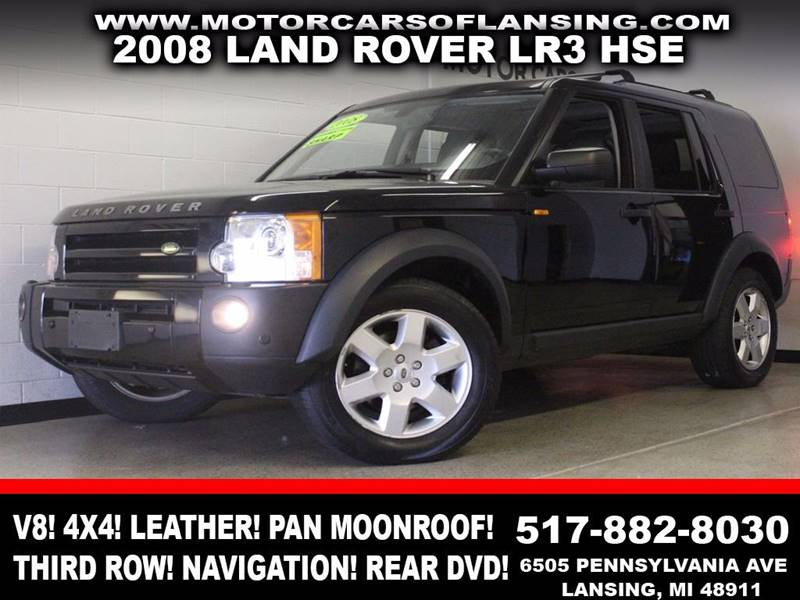 2008 LAND ROVER LR3 HSE 4X4 4DR SUV black 4x4 leather panoramic moonroof third row seating na
