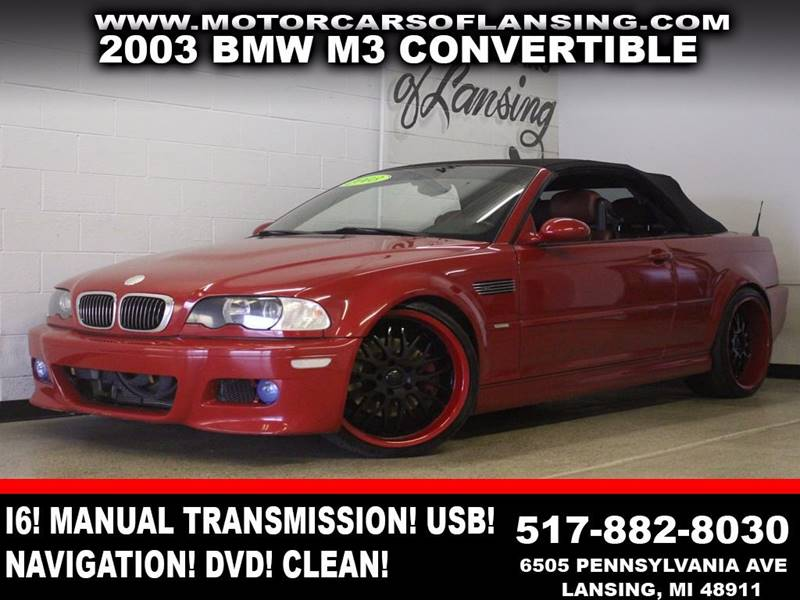 2003 BMW M3 BASE 2DR CONVERTIBLE red manual transmission leather convertible navigation dvd