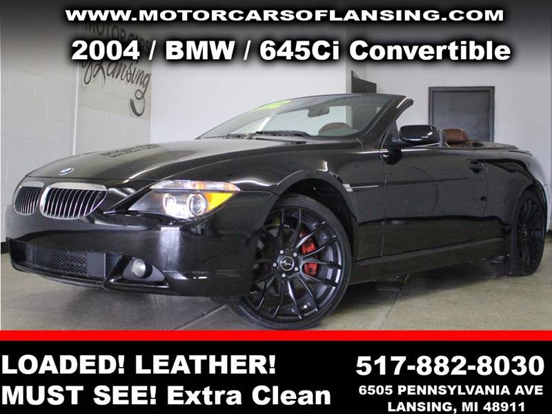 2004 BMW 6 SERIES 645CI 2DR CONVERTIBLE black  3 month 3000 mile limited powertrain warranty i