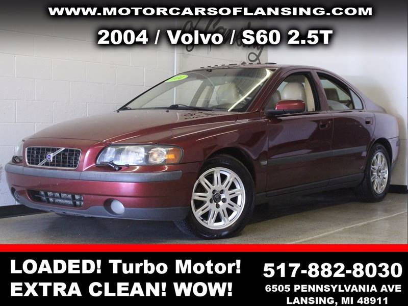 2004 VOLVO S60 25T 4DR TURBO SEDAN burgundy guaranteed credit approval   sunroof leather wow t