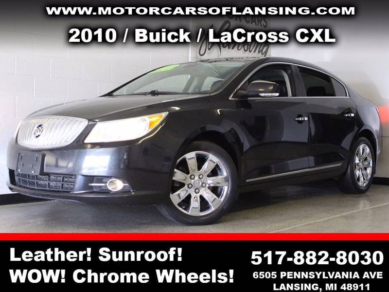 2010 BUICK LACROSSE CXL black  3 month 3000 mile limited powertrain warranty is available in a