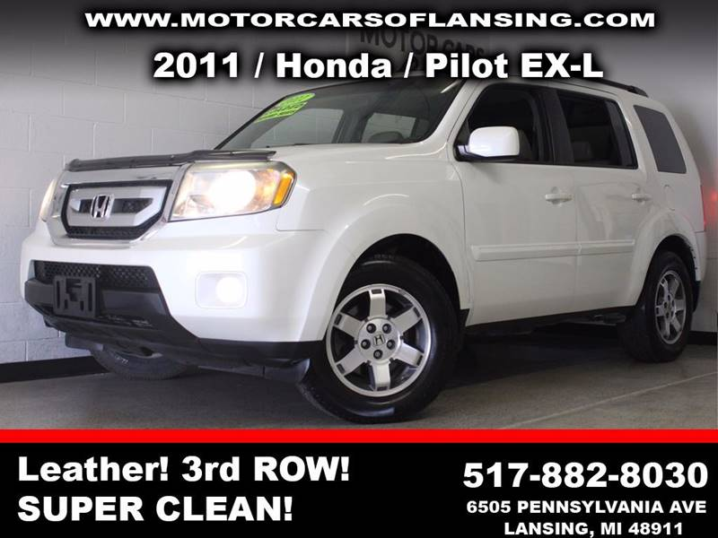 2011 HONDA PILOT EX-L 4X4 4DR SUV white  3 month 4000 mile limited powertrain warranty is avai