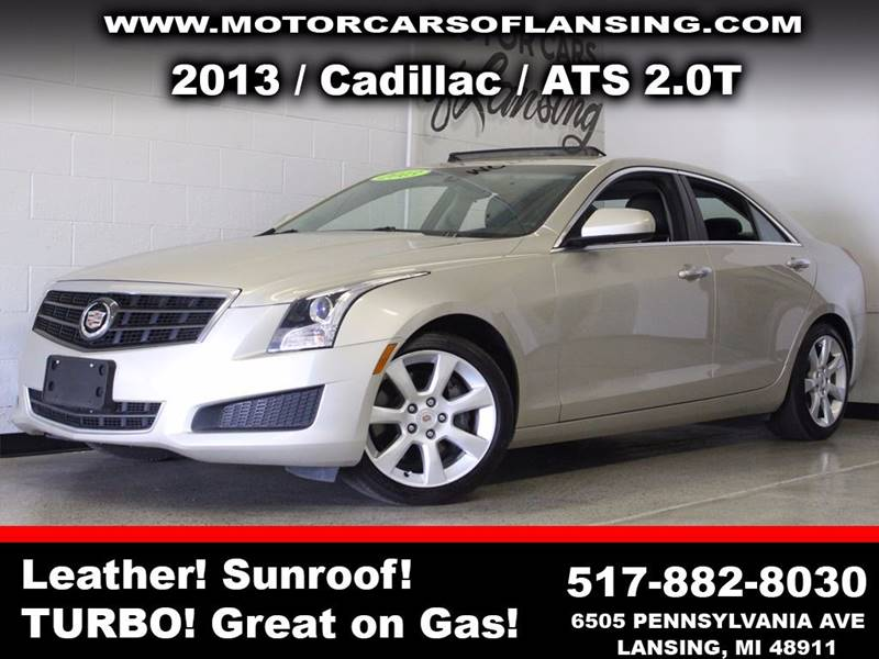 2013 CADILLAC ATS 20T 4DR SEDAN beige  3 month 4000 mile limited powertrain warranty is avail