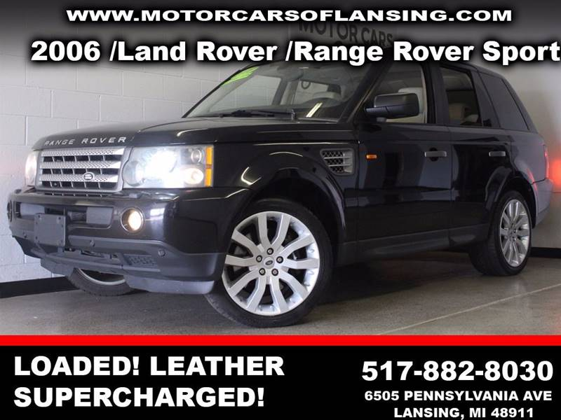 2006 LAND ROVER RANGE ROVER SPORT SUPERCHARGED 4DR SUV 4WD black  3 month 4000 mile limited po