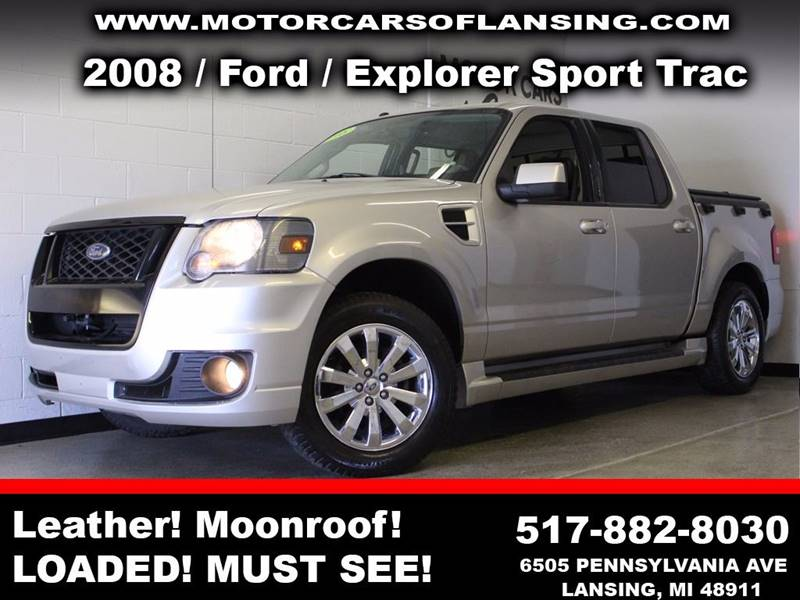 2008 FORD EXPLORER SPORT TRAC LIMITED AWD 4DR CREW CAB WADREN silver adrenaline 3 month 3000 m