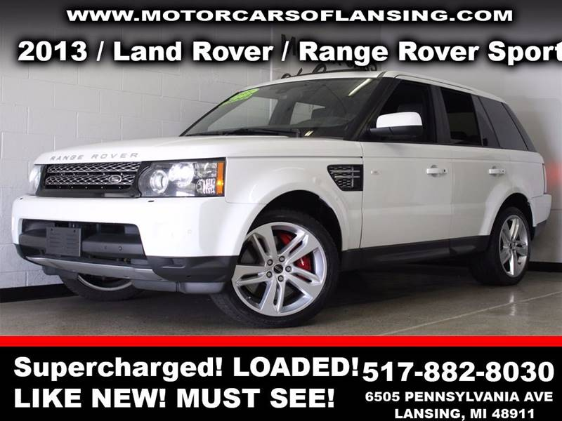 2013 LAND ROVER RANGE ROVER SPORT SUPERCHARGED 4X4 4DR SUV white  3 month 4000 mile limited po