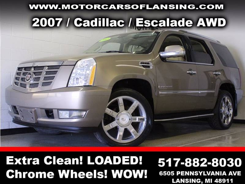 2007 CADILLAC ESCALADE BASE AWD 4DR SUV beige  3 month 4000 mile limited powertrain warranty i