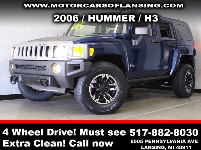 2006 HUMMER H3 BASE 4DR SUV 4WD blue  3 month 4000 mile limited powertrain warranty is availab