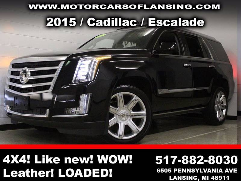 2015 CADILLAC ESCALADE PREMIUM 4X4 4DR SUV black power running boardspremium wheelscaptain chai