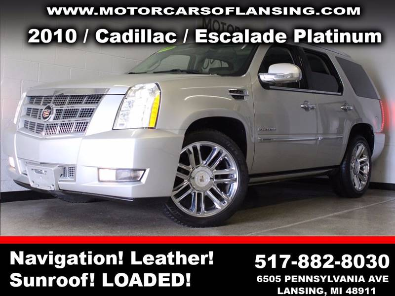 2010 CADILLAC ESCALADE PLATINUM EDITION AWD 4DR SUV silver  3 month 4000 mile limited powertra
