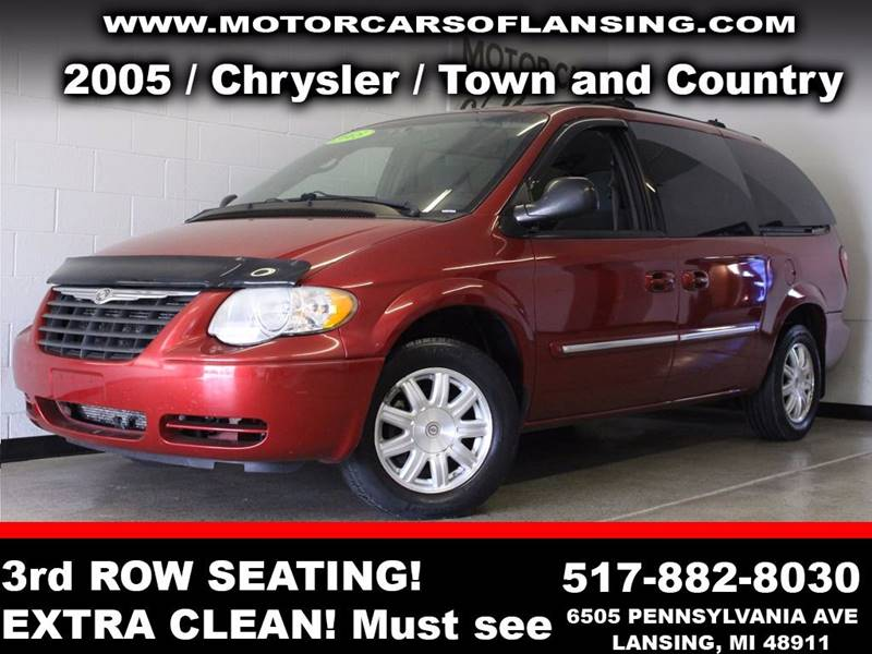 2005 CHRYSLER TOWN AND COUNTRY TOURING 4DR EXTENDED MINI VAN burgundy  3 month 3000 mile limit