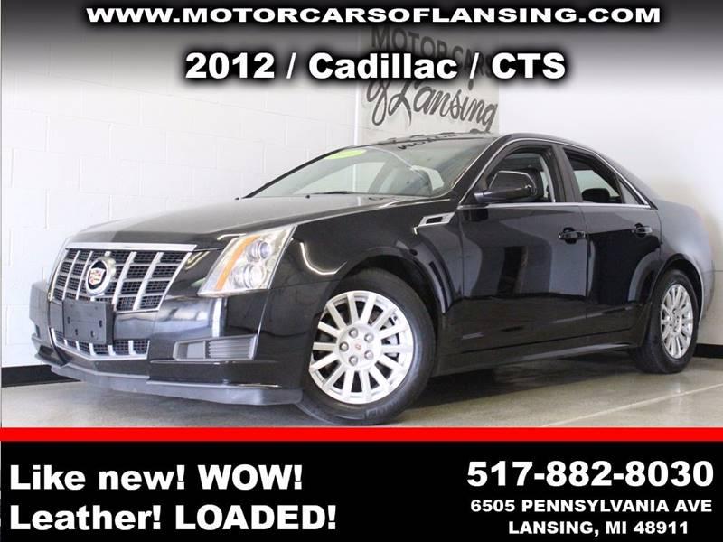 2012 CADILLAC CTS 30L 4DR SEDAN black panaromic moonrooflike new 3 month 4000 mile limited p