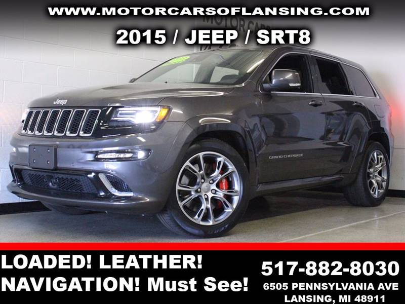 2015 JEEP GRAND CHEROKEE SRT 4X4 4DR SUV charcoal  3 month 4000 mile limited powertrain warran