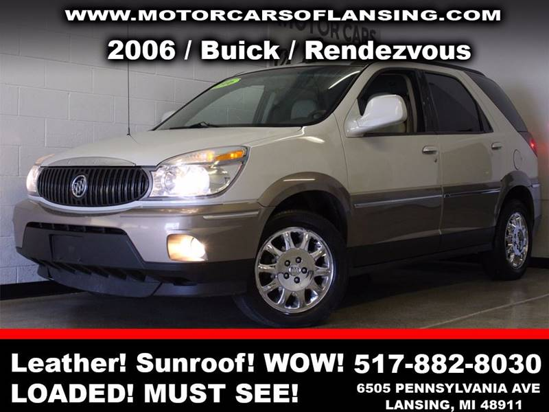 2006 BUICK RENDEZVOUS CXL AWD 4DR SUV white leatherthird row seating 3 month 4000 mile limite